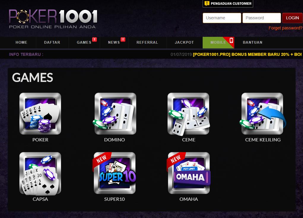 Mainkan Poker 1001 Sekarang